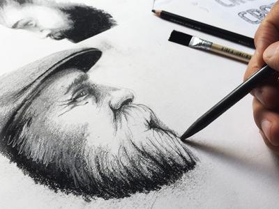 Kulltegning og portrettegning