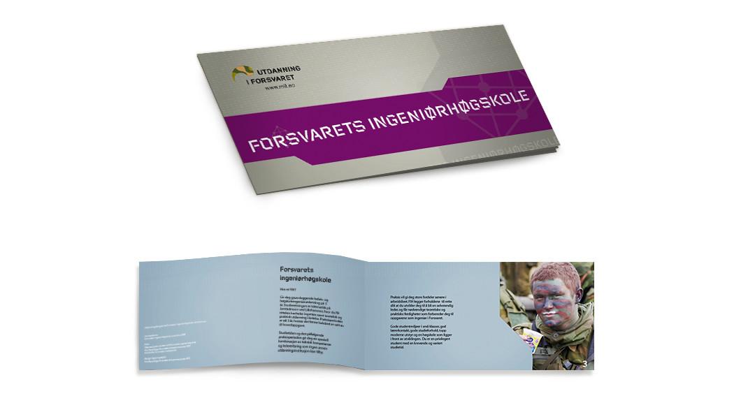 brosjyre for Forsvarets ingeniørhøgskole