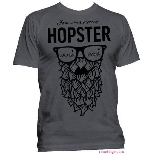 grey hopster tee