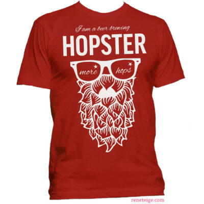 red hopster tee