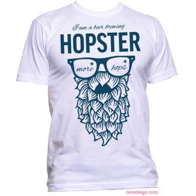white hopster tee